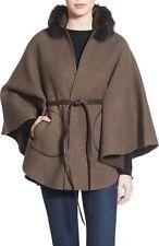 NWT La Fiorentina Wool & Nylon Cape with Genuine Fox Fur Collar  B060