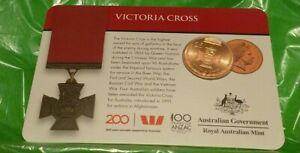 2017 Victoria Cross For Australia $0.25 cents.  Copper Coin
