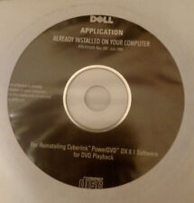 Sealed Cyberlink PowerDVD DX 8.1 Software Reinstallation Disc for Dell Computers