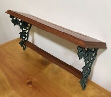 """NOS Home Interiors HOMCO 18"""" Shelf With Green Ivy Leaves Wood Wall Decor"""