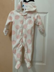 Little Cutie girl pink winter overall 6 Months Old