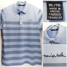 Travis Mathew Mens XL Golf Shirt Polo Blue Striped
