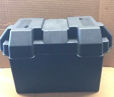 RV/Trailer Large Battery Box With Strap, BLACK