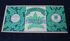 1 grande ancienne étiquette boite conserve épinard Fruiteror 47,5 *22,5 Vaucluse