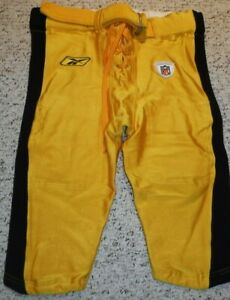 PITTSBURGH STEELERS GAME USED GAME WORN PANTS 2002 REEBOK JUSTIN KERPEIKIS 44-S
