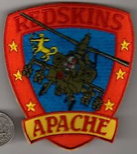 US Army APACHE Helicopter REDSKINS Air Squadron Patch Aviation Regiment Wing
