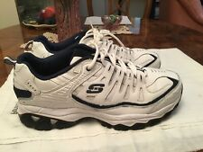 Skechers Athletic Memory Foam Extra Wide Sneakers Size 12. White