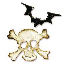 Sizzix Mini Bat & Skull Movers magnetic die set #657458 Retail $15.99 SCARY FUN!