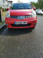 Nissan note 1.6 L 2008 RED petrol