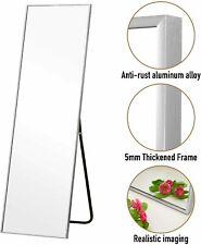 """59"""" Full Length Floor Mirror Wall Hanging Living Bedroom Floor Standing Makeup"""