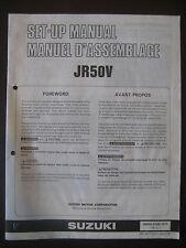SUZUKI JR50V Set Up Manual Set-Up JR 50 V 99505-01067-01T Motorcycle