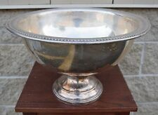 """+ """"F B Rogers Silver Co. 1883"""" Punch Bowl + 17 1/8"""" diameter + chalice co.+"""
