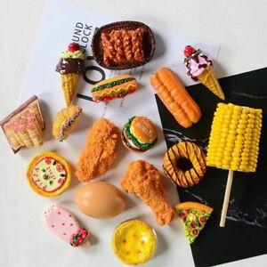 Simulation Food 3D Fridge Magnet Sweet Cone Chicken Hamburger Decor Refrigerator