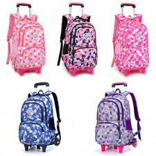 Kids' Removable Trolley Bag Backpack Girl Boy Kids Wheeled School Bag 2 Wheels