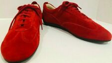 Paolo Visconti Red Suede Tie Driving Moccasin-Vtg.80's Eu 39/Us 7-7.5-Mint!