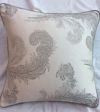 "laura  Ashley Cushion Cover   Swansbrook Dove Grey 18"" piped  Paramount Marble"