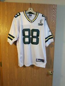 Green Bay Packers Jermichael Finley #88 Sewn Reebok Super Bowl Jersey Sz. 54 EUC