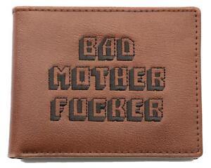 Pulp Fiction Bad Mother Fucker Geldbeutel BMF braun, Geldbörse Kartenfächer NEU