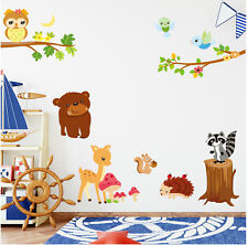Jungle Animal Bear Wall decal Removable Stickers decor Nursery Kids Baby AUS