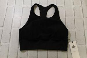 Alosoft Serenity Sports Bra, Women's Size M, Black