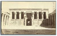 Egypte, Temple d'Horus (Edfu) vintage albumen print Tirage albuminé  9x