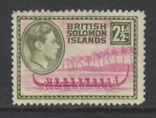 British Solomon Islands - 1939, 2 1/2d Mauve & Olive stamp - m/m - SG 64