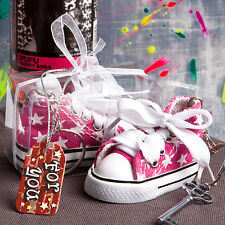 40 Oh-so-cute Pink Star Baby Girl Sneaker Key Chain Shower Favor