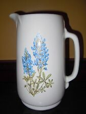 "USA FRANKOMA  #80 9.5"" HIGH EXTRA LARGE PITCHER W/ TEXAS BLUEBONNETS"
