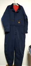 Big Ben Coveralls Insulated Quilted Lined Men's 46 48 Long Jumpsuit USA Blue VTG