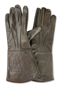 Handschuhe Echt - Leder LARP Mittelalter Lederhandschuhe dunkelbraun S M L XL