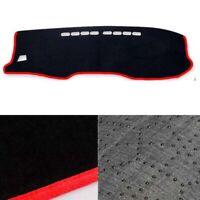 Black Velvet Non-Slip Dash Mat Cover Red Line for 09/2015 ~2019 Toyota Hilux