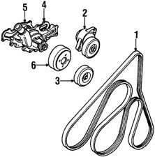 Genuine  Accessory Drive Belt Tensioner Assembly F77Z-6B209-AA