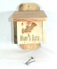 More details for bat box mum (mothers day) handmade from recycled wood personalised