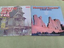 TWO COUNTRY MUSIC LP'S - COUNTRY MUSIC USA + MASTERS OF COUNTRY