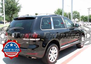 2004-2010 Volkswagen Touareg 4Pc Chrome Pillar Post Trim Stainless Steel