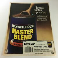 VTG Retro 1984 Maxwell House Master Blend Coffee Print Ad Coupon