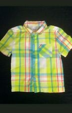 Boy's Shirt by Kidgets Size 24 Months Yellow Blue Button Front