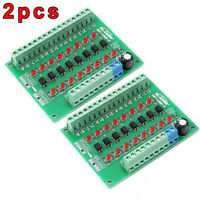 2pc 8-Channel 8bit 24V - 5V Photoelectric Isolation Module Voltage Converter Lot