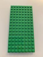 NEW Lego Light Green Baseplate Base Plate 8 x 16 Brick Building HARD BACK STYLE