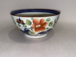 Staffordshire Single Rose Gaudy Dutch Waste Bowl Ca. 1820 Pearlware