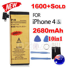 For Apple iPhone 4S Battery Replacement Tools Kit Screwdrivers 2680mAh Gold