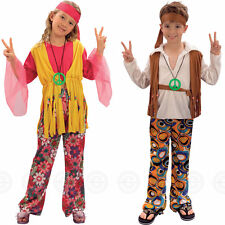 HIPPY GIRLS / BOYS FANCY DRESS COSTUME HIPPIE 60S 1960S CHILDS 8 OUTFIT 70S KIDS