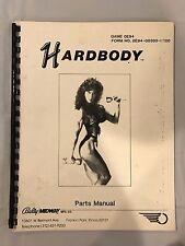 Bally Hardbody Pinball Parts Manual