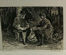 Postcard Civil War Lee And Jackson Engraved from Wartime Photo