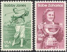 EE. UU. 1981 Bobby Jones/Babe Zaharias/Golf/ATLETISMO/Deportes/juegos 2v Set (n44824)