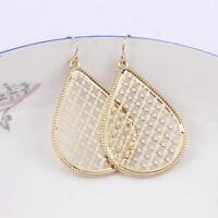 Boho Jewelry Cutout Filigree Magnolia Hollow Teardrop Statement Earrings Jewelry
