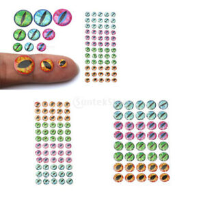 4D Holographic Fishing Lure Eyes Fly Tying Material Crafts Stickers 6/812mm