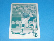 2013 Topps WADE DAVIS #140 Mini Blue/Cyan Printing Plate #1/1 Kansas City ROYALS