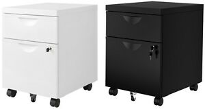 Ikea ERIK Filing/documents 2 Drawers/Cabinet unit on castors,Lock Drawer,41x57cm