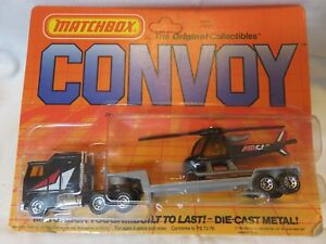 1983 Matchbox Convoy Kenworth C.O.E.Helicopter Transporter Truck Die-Cast 1:90